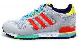 ADIDAS ZX 700 Trainers Grey Red Yellow Synthetic Mesh running 500 8000