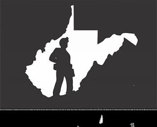 Virginia Coal Miner Silhouette Mining Sticker Mine Decal 10x12 XLarge