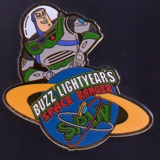 Disney WDW   Buzz Lightyear Space Ranger Spin Pin   Retired from 2003