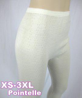 Pointelle Women Girl Long John PURE Merino Wool Underwear Thermal