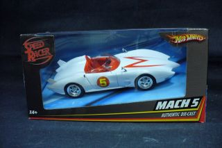 SPEED RACER MACH 5 DIE CAST VEHICLE (HOT WHEELS/2007/MI​B)
