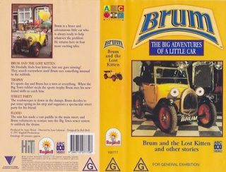 brum and the lost kitten vhs pal video rare from
