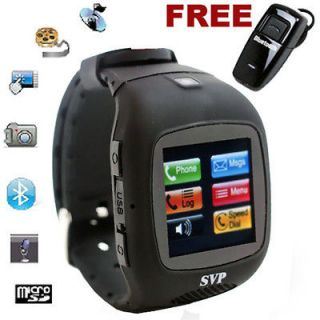 listed Unlocked Micro Touch Screen Camera  GSM Watch Cell Phone