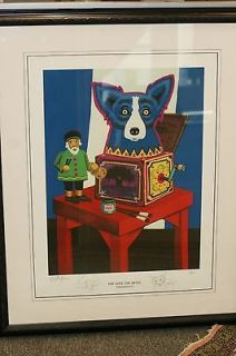 GEORGE RODRIGUE Print POP GOES THE REVEL 1998 Blue Dog Lim Ed 54/1000
