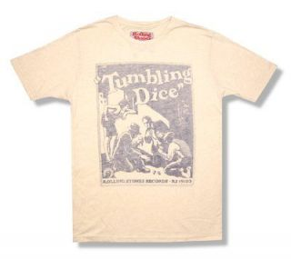 THE ROLLING STONES   TUMBLING DICE SOFT CREAM T SHIRT   NEW ADULT