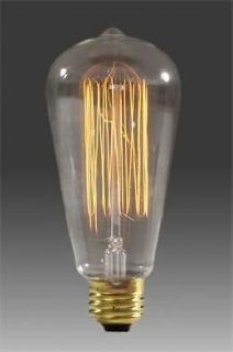 light Squirrel Cage style type Filament Bulb 60 watt Long Life Marconi