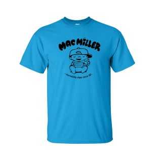 Mac Miller Black Logo T Shirt rap hip hop knock most dope multi color