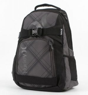 Boys Charcoal Gray Hurley Honor Roll Backpack Laptop SkateBoard Bag