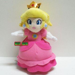 Plush 7 Princess Peach B   New Super Mario Brothers Plush Doll Figure