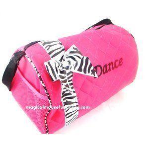 girls pink zebra dance duffle bag ballet tutu tap new