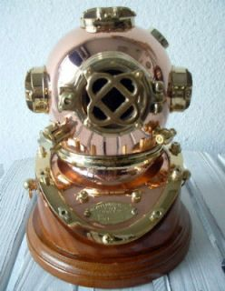 navy mark v divers diving helmet with base  94 00 or