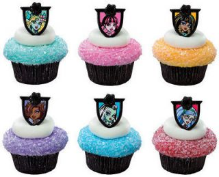 MONSTER High (12) Clawdeen Draculaura Cupcake RINGS Toppers Cake Pop