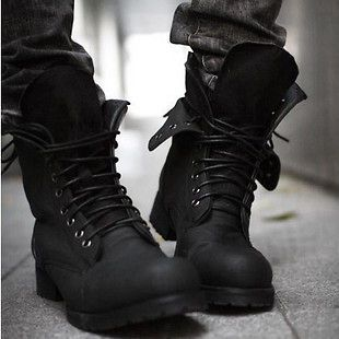 Free shipping Men Retro Fashion Combat boots Winter England style