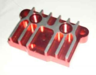 DIRT PIT BIKE ENGINE CNC OIL COOLER ADAPTER PLATE CRF50 ATC70 SDG  RED