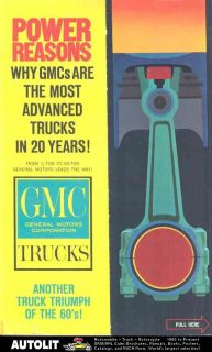 1961 gmc coe tractor truck mailer brochure returns accepted within