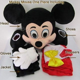 Adult Mickey Mouse Costume Mascot Cartoon Dress Party Clothing