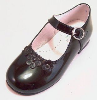 Spain   Girls Black Patent Leather Dress Mary Jane Shoes   Euro 22 34