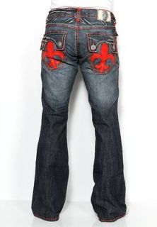 New Mens Laguna Beach Jeans Hermosa Beach Red Stitch Boot Cut 32