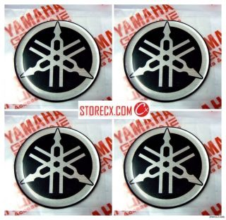 Genuine YAMAHA Gel Tuning fork mark logo emblem decal sticker #02
