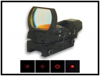 NcSTAR 4 Reticle Red Dot Tactical Reflex Sight   D4B   Black
