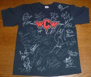 Rowdy Roddy Piper & Scott Hall & Mick Foley +30 Signed WCW Shirt PSA