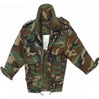 Woodland Camouflage M65 M 65 Army Military Field Jacket With Liner