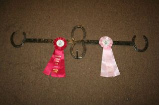 new horse show ribbon rack holder horse shoes nice time