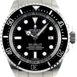 rolex deep sea dweller 44mm steel ceramic mens diving watch