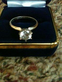 gold 1 1/4 carat diamond solitare/ring enhancer/Mens wedding ring