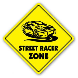STREET RACER ZONE Sign xing gift novelty drag racing stock car