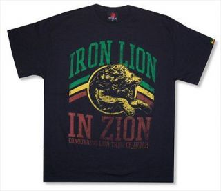 ZION ROOTSWEAR   DISTRESSED LION BOB MARLEY T SHIRT   NEW ADULT 2XL