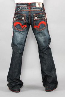 New Mens Laguna Beach Jeans Salt Creek Red Stitch Bootcut 34