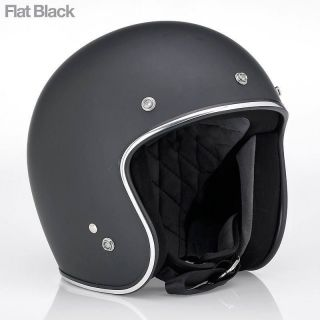 Hustler DOT Open Face Helmet   Matt Black   (BNIB) All Sizes (UK