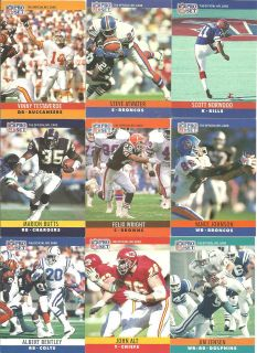 PRO SET NFL AMERICAN FOOTBALL TRADING CARD   See Which Cards Available