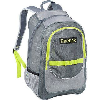 reebok large mesh backpack dk grey flat grey charged