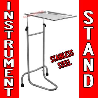 Instrument Stand Tattoo Body Piercing STEEL TRAY Equipment Tools Mayo