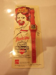 1984 ronald mcdonald house coca cola watch