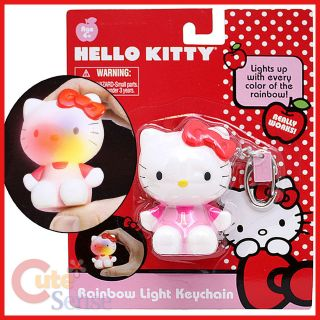 sanrio hello kitty figure key chain holder 3 pvc light