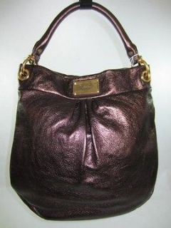 NWT MARC JACOBS Metallic Chocolate CLASSIC Q Hillier Leather HOBO Bag