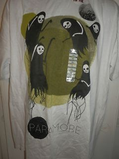 HOT TOPIC Paramore  Black Ghost T Shirt Size Medium NWOT See