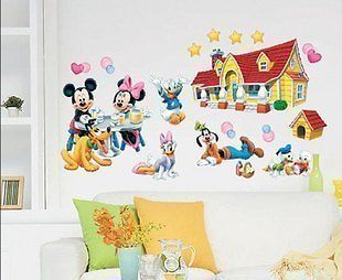 fix mickey mouse home garden wall stickers wall home decor
