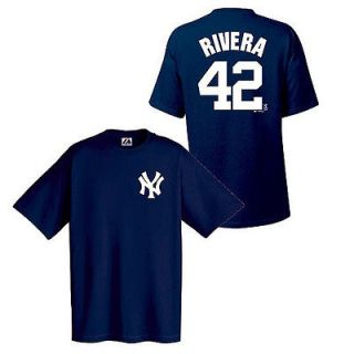 New York Yankees Mariano Rivera Navy Name and Number Jersey T Shirt