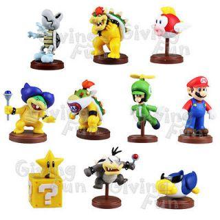 Furuta 2012 Super Mario Bros 10 Figure Toy Set Action Wii vol 3 Luigi
