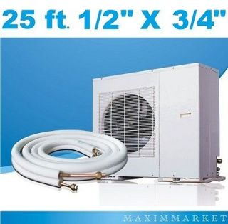 25 Ft. Mini Split  Cenral HVAC Insulated Line Set 1/2 X 3/4 for all