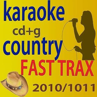 FROM 400 TO 414 COUNTRY KARAOKE CDG 15 FAST TRAX NEW RELEASE IN ONE