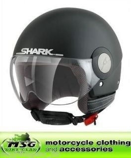 SHARK SK OPEN FACE MOTORCYCLE SCOOTER HELMET MATT BLACK LARGE