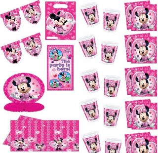 MINNIE MOUSE PINK birthday party decorations plates napkins ect