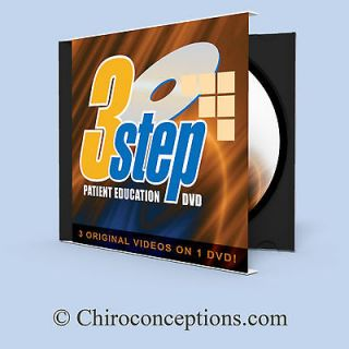 Chiropractic 3 in 1 DVD video for patient information during treatment