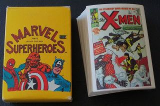 1984 MARVEL SUPERHEROES FIRST ISSUE COVERS COMIC TRADING CARD SET