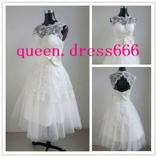 White Tulle Lace Wedding Bridal Dress/Pageant Party Gown/Evening Prom